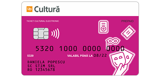 card cultura sau tichet cultura suport electronic up romania