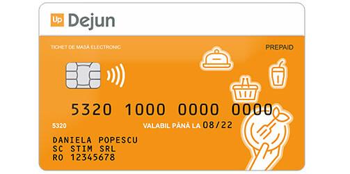 icon card masa sau tichet suport electronic Up Dejun