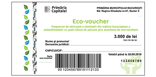 tichet eco voucher up romania eliminare poluare trafic bucurestean