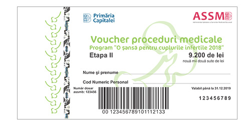 tichet  voucher fertilizare in vitro up romania sansa cupluri infertile