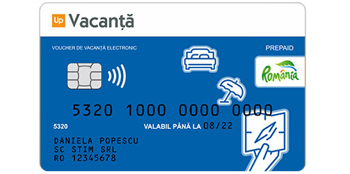 card sau voucher de vacanta suport electronic up romania