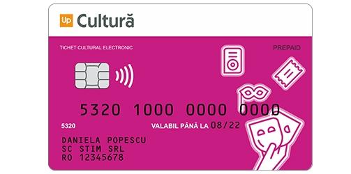 card cultura sau tichet cultura suport electronic up romania