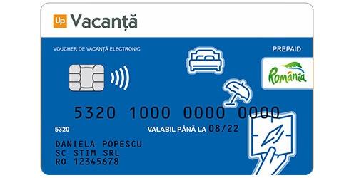 card sau voucher de vacanta suport electronic up romania