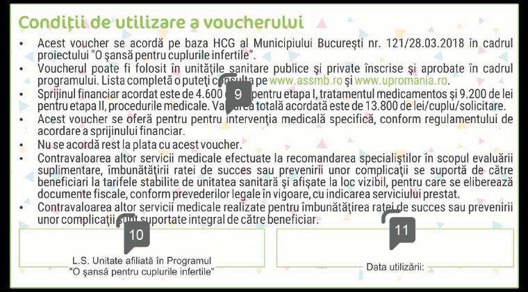 specimen spate elemente securitate voucher proceduri medicale  fertilizare up romania