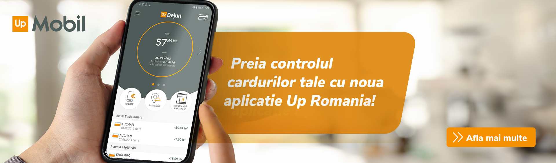 Aplicatia Up Mobil